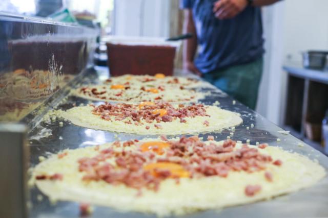 Préparation des pizzas